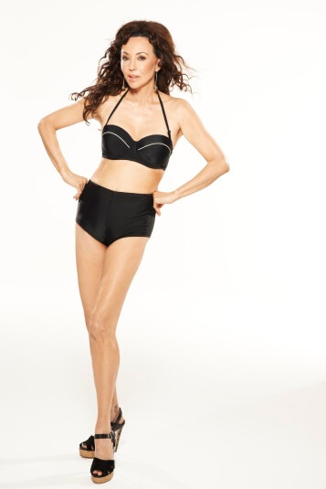 Marie Helvin models new shapewear bikini from isme.com