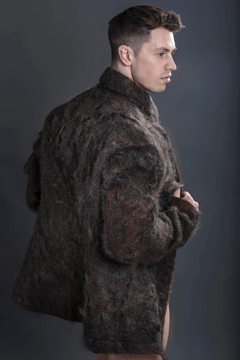 Man-Fur Coat-ure: world's first fur coat made from 100% male che