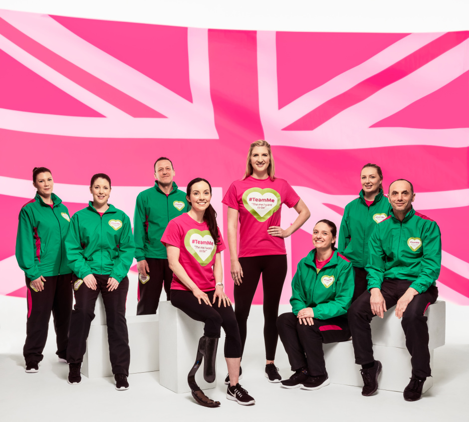 Olympic medal winner Rebecca Adlington along with Paralympic long jumper, Stef Reid are fronting Superdrug's Health & Wellbeing revolution. The athletes are pictured with the very first #TeamMe members who are looking to become the me they want to be