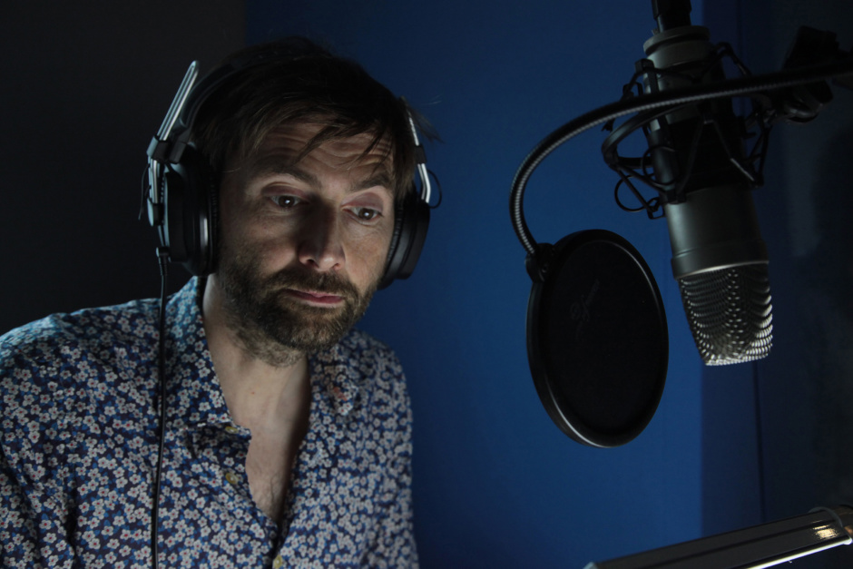 David Tennant features in the first films for cats and dogs that have been scientifically developed to reduce stress caused by fireworks. The free films have been created by MORE TH>N Pet Insurance and can be viewed here: www.youtube.com/morethan This picture: David Tennant is pictured in a recording studio providing narration for the stress-busting films for cats and dogs. Each part of David's script, including specific words, cadence, intensity, volume and pitch were designed to aid relaxation among cats and dogs. For further information please contact Cow PR on 020 7234 9150 or morethan@cowpr.com PR Handout - free for editorial usage.