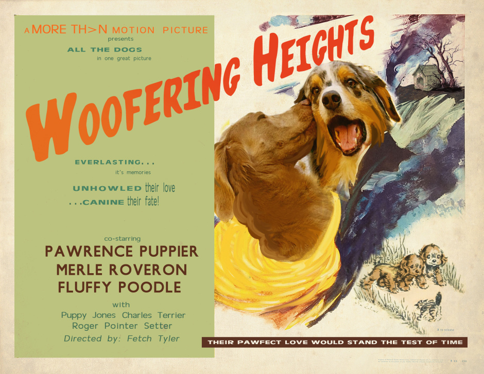 David Tennant features in the first films for cats and dogs that have been scientifically developed to reduce stress caused by fireworks. The free films have been created by MORE TH>N Pet Insurance and can be viewed here: www.youtube.com/morethan This picture: A poster for 'Woofering Heights', the first films for dogs scientifically developed to help calm them around loud noises such as fireworks. For further information please contact Cow PR on 020 7234 9150 or morethan@cowpr.com PR Handout - free for editorial usage.