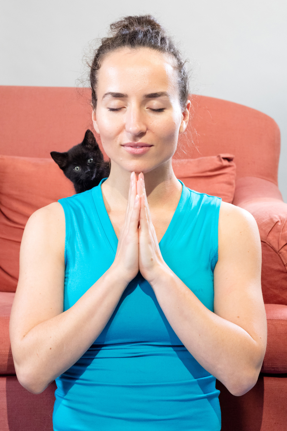 Working with mindfulness experts at London Mindful, pet charity Blue Cross has created a new meditation class called 'Karma Kitties' which marries the essential principles of mindfulness classes with cute rescue cat video clips and the soothing sounds of cats.