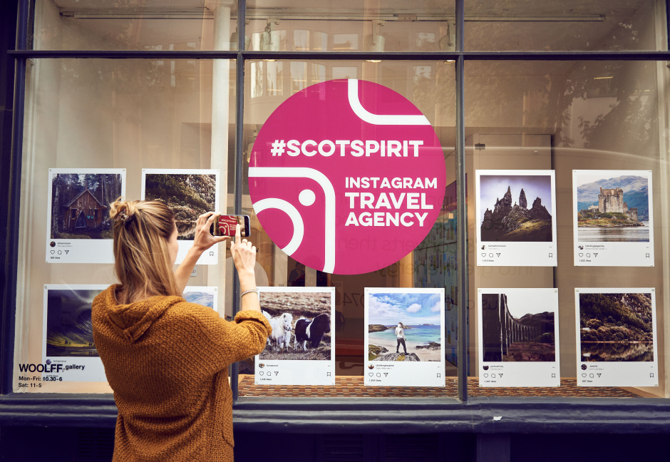 VisitScotland has today opened the first ever Instagram Travel Agency: allowing visitors to build their own holidays to Scotland based entirely around other people's Instagram photos. Visitors can choose their favourite '#ScotSpirit' Instagram images and a bespoke holiday itinerary will be created for them.??For further info please email visitscotland@cowpr.com