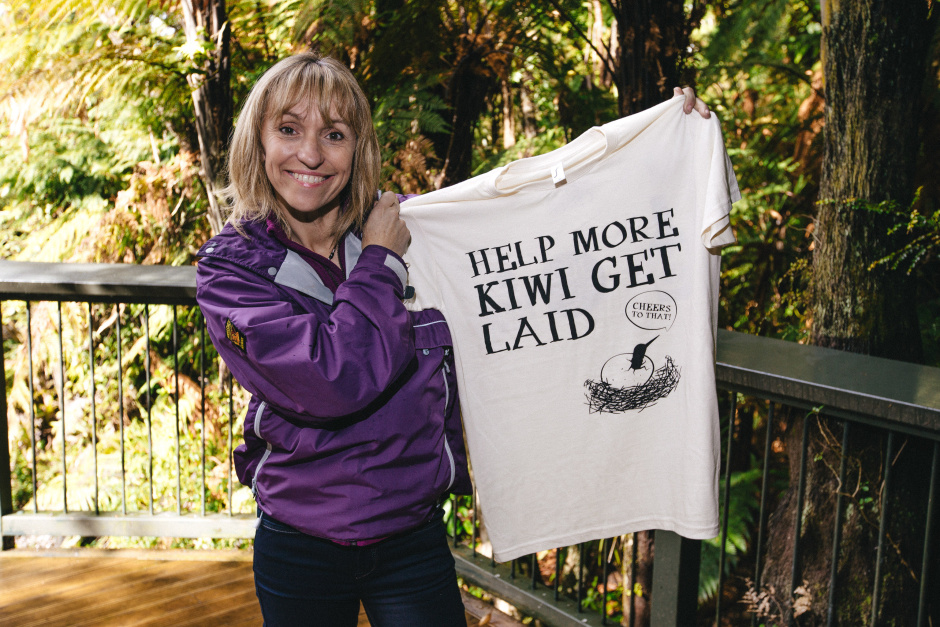 MICHAELA STRACHAN To raise awareness of the kiwi's plight, native New Zealand cider Old Mout, has reunited conservation champions and presenters of BBC's cult television programme The Really Wild Show, Chris Packham and Michaela Strachan, to launch a one-off, kiwi-dedicated programme, entitled The Kiwi Wild Show. This image features Michaela Strachan visiting Kiwis For Kiwi in Rainbow Springs Nature Par, New Zealand.