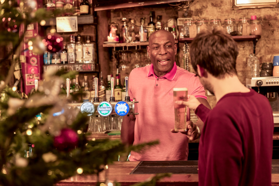 Former heavy weight boxer and mental health champion Frank Bruno launched Heineken's Christmas campaign - #BrewingGood Cheer - to raise awareness around the impact of loneliness and social isolation - and the important role of pubs in responding by bringing people from all walks of life together. The UK's leading beer, cider and pub company, is teaming up with around 50 pubs and charities across the UK to bring hundreds of socially isolated people together for festive lunches.