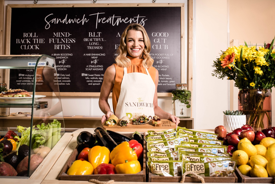 Julie Montagu, the Future Countess of Sandwich opens The Sandwich Spa with BFree Foods, a unique wellness concept opening its doors in London from 14th-16th, serving up wellness sandwiches matched with wellness treatments, to feed the body from the inside and out.